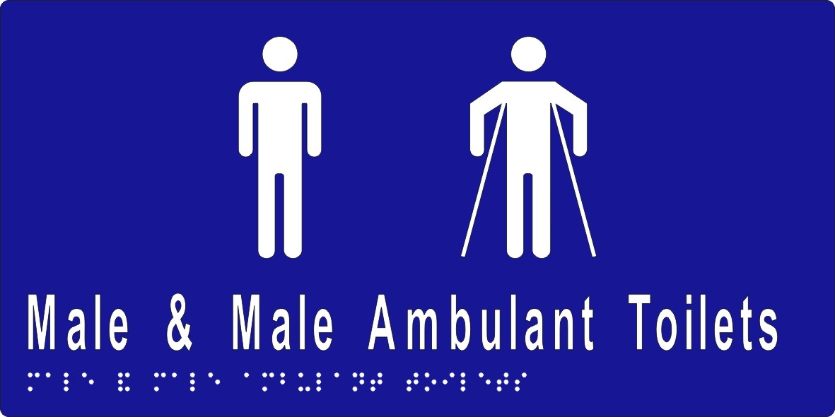 Male and Male Ambulant Toilet 300x150 BRAILLE – SS
